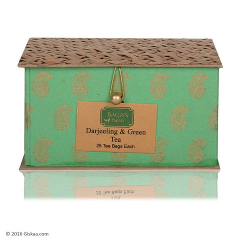 Bagan Fresh Combo Of Darjeeling And Green Tea - 100 g(25 Tea Bags Each)