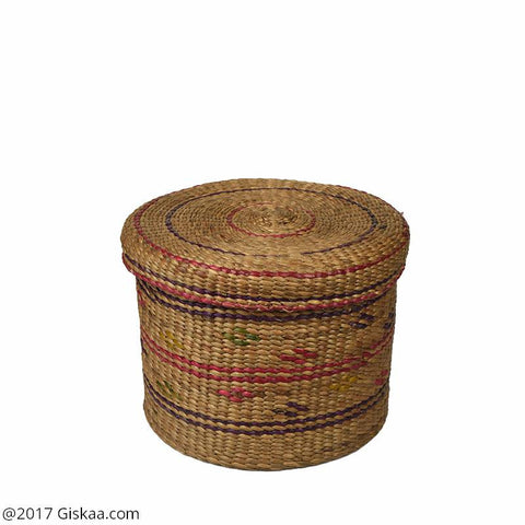 Handmade And Eco-friendly Water Hyacinth Jewellery Box - Round Basket