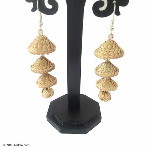 Dazzling Divas Handmade Multi Drop Japi Design Earrings
