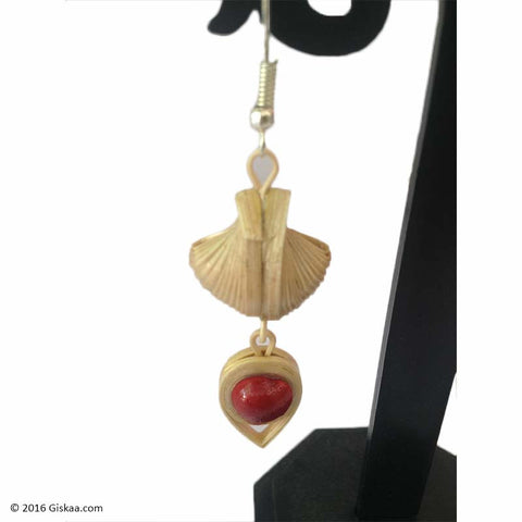 Hanging Garden Handmade Bamboo And Cane Earrings