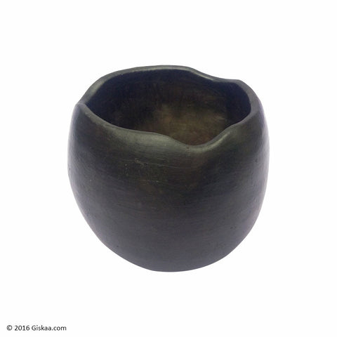 Designer Ashtray - Black Pottery