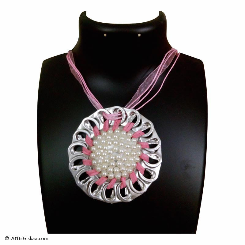 The Artistic Can Pink Pearl Round Pendant