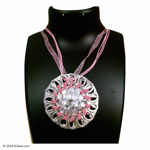 The Artistic Can Pink Beam Round Pendant