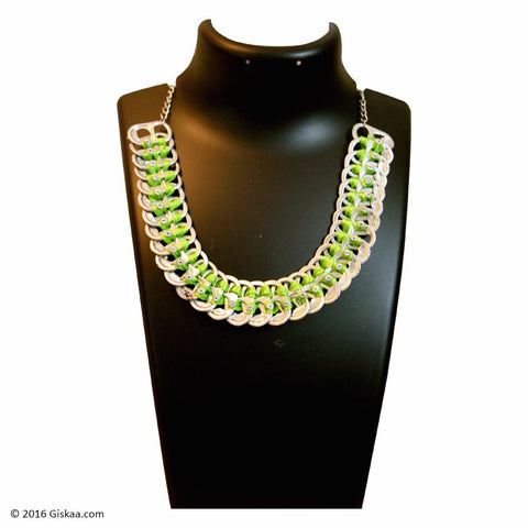 The Artistic Can Green Panorama Necklace