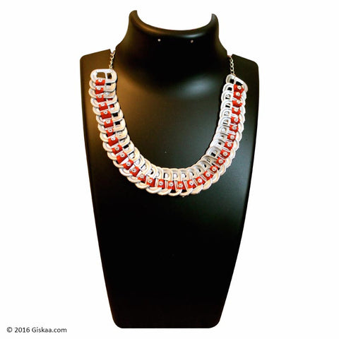 The Artistic Can Red Panorama Necklace