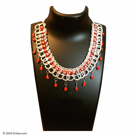 The Artistic Can Red Dazzle Necklace