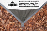 Rolling Fox Tarp Shelter - Cream 360 x 280 cm