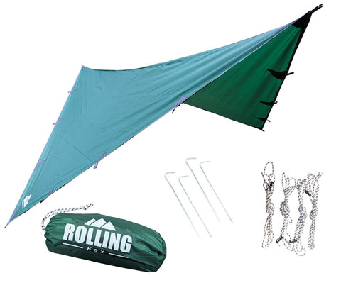 Rolling Fox Tarp Shelter - Dark Green 360 x 280 cm