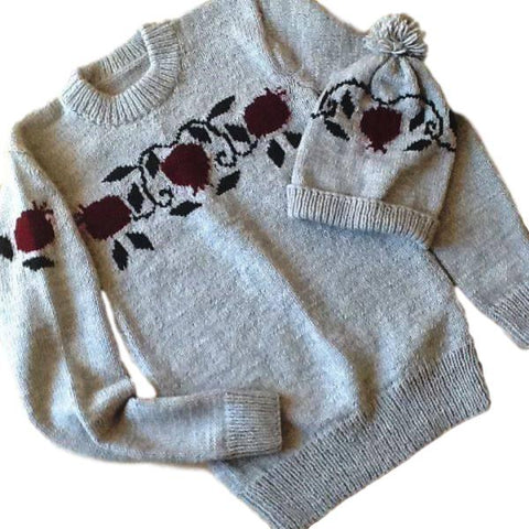 "Knitted Sweater ""Pomegranate"""