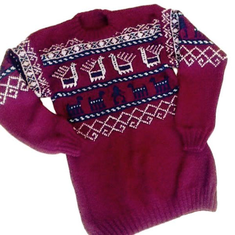 "Knitted Sweater ""Armenian Carpet"""