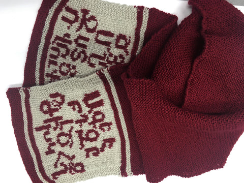 "Knitted Scarf ""Armenian Alphabet"""