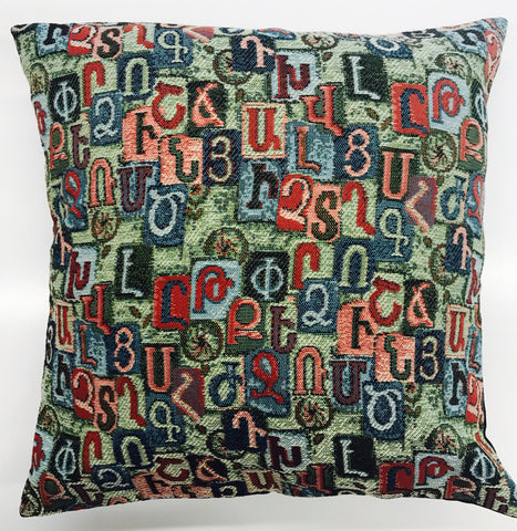 "Cushion Cover ""Alphabet"""