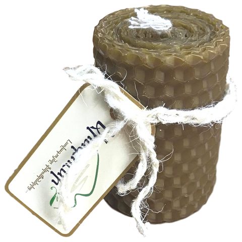 Martuni Village - Hand Rolled Beeswax Candle