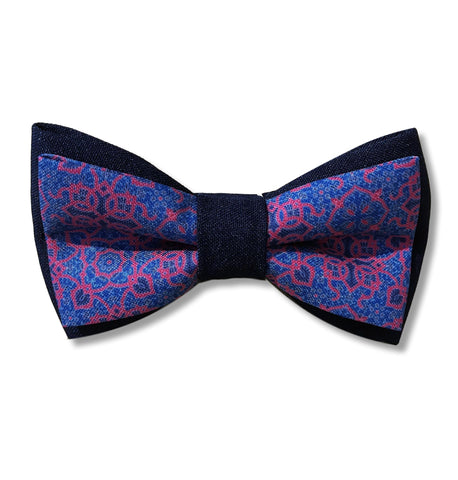 "Bow Tie ""Mosaic"" blue"