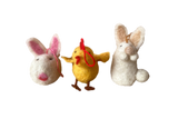 Easter Bunnies and Chicks - Hand Felted set/6