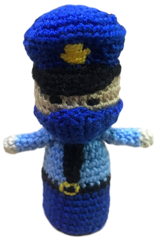 Policeman Finger Puppet in Pandemic Heroes Series