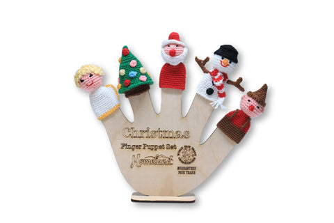 Christmas Crocheted Finger Puppets