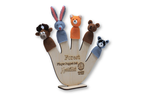 Forest Crocheted Finger Puppets