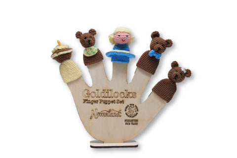 Goldilocks Crocheted Finger Puppets