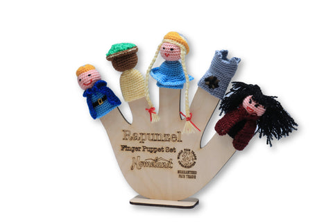 Rapunzel Crocheted Finger Puppets