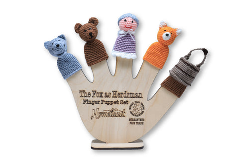 The Fox as Herdsman Crocheted Finger Puppets