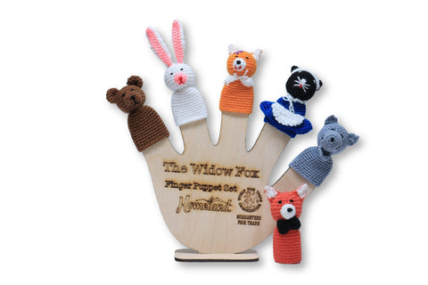 The Widow Fox Crocheted Finger Puppets