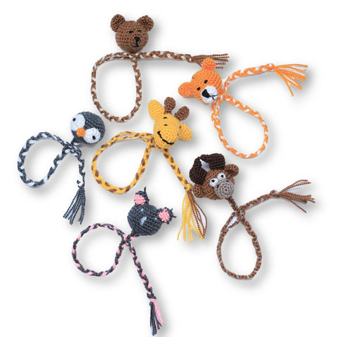 Crocheted Animal Bracelets