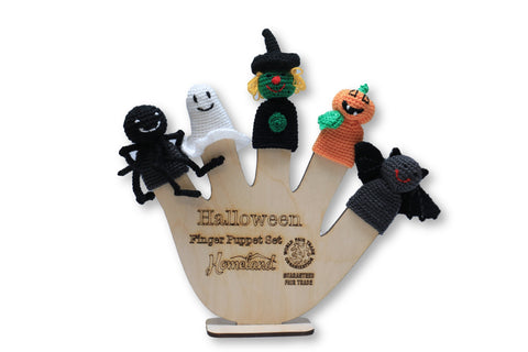 Halloween Crocheted Finger Puppets