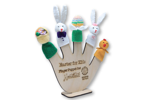 Easter For Kids Crocheted Finger Puppets
