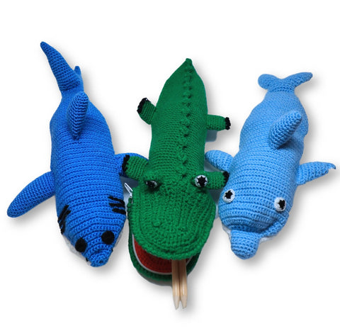 Crocheted Animal Pencil Cases