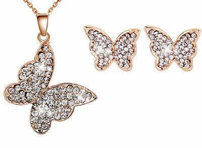 G 18K Gold Butterfly Set