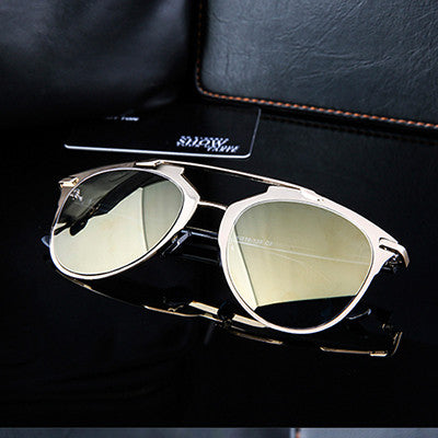 Fan Flare Mirrored Sunglasses -
