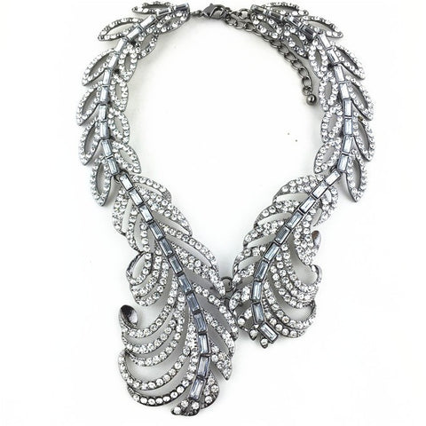 New - S Peacock Feather Wrap Necklace