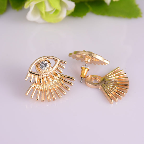 CZ Eye Ear Jackets Stud Earrings