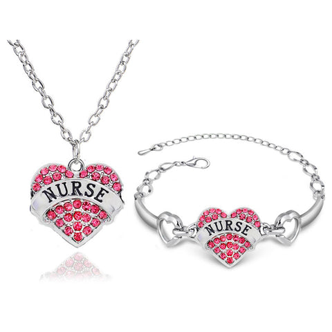 I Love Nursing Jewelry Set- Save 30% OFF