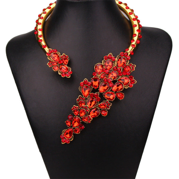 S Cherry Blossom Wrap Necklace