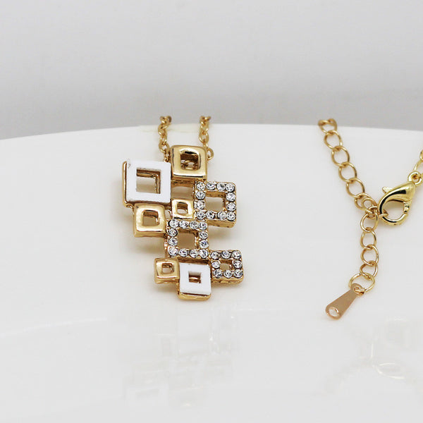 G Checkered Jewelry Set