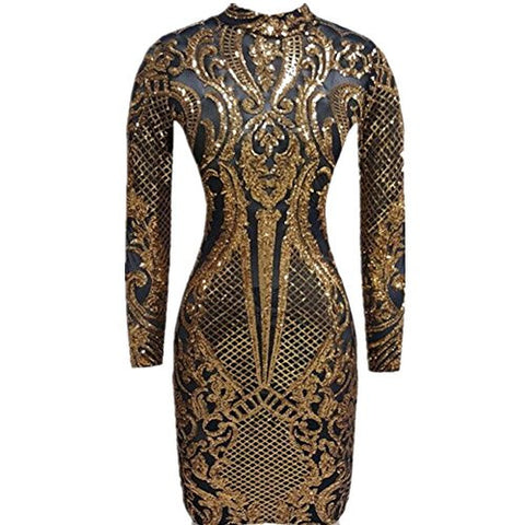 Geo Sequin Dress