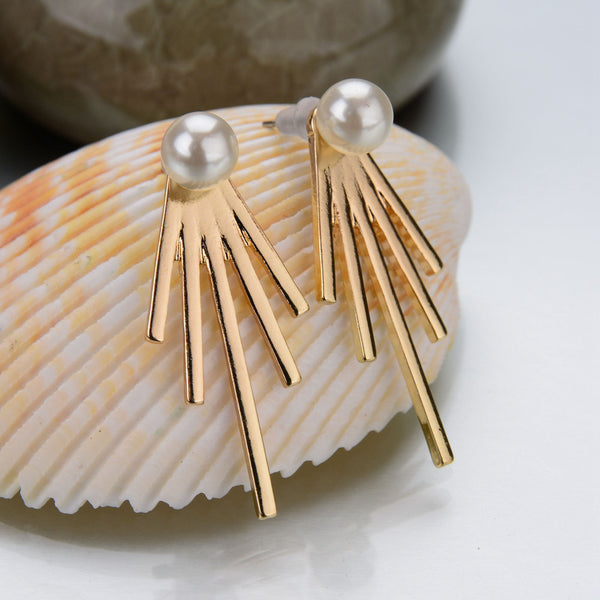 Spiked Ear Jacket Earrings