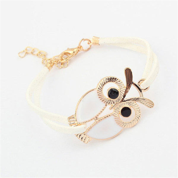 Leather Owl  Bracelets