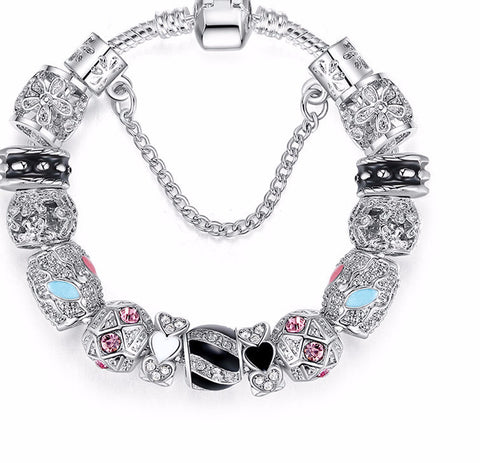 Femmi Bella Crystal Charm Bracelets- Save Up To 30%