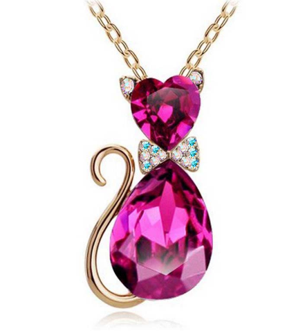 Crystal Cat Pendant Necklaces- Mark Down 60%
