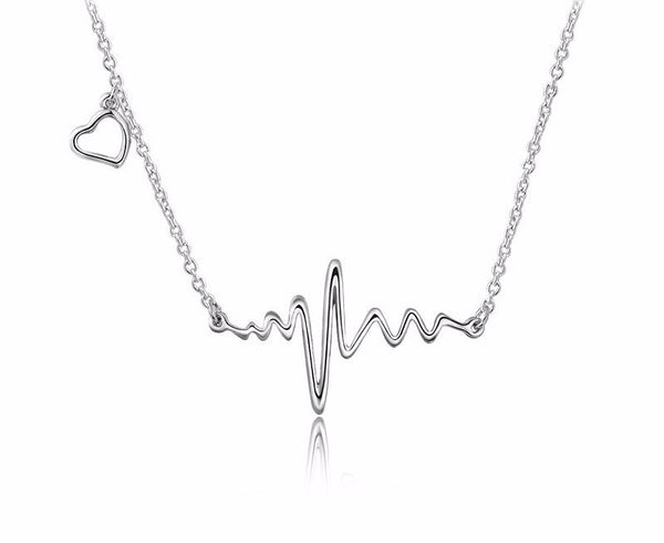 EKG Heart Charm Nurse Necklace- 50% OFF