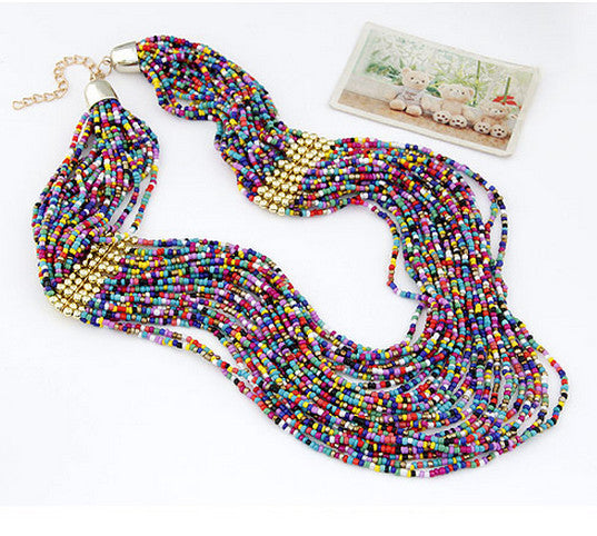 Beaded Multi-layer Boho Necklace