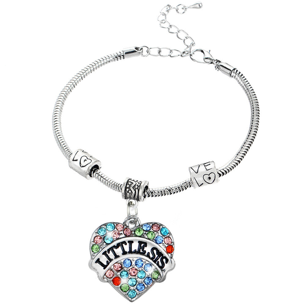 I love You Little Sister Charm Bracelet