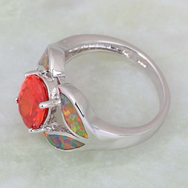 Fiery Topaz Opal Ring