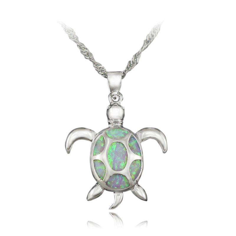 Opal Sea Turtle Chain