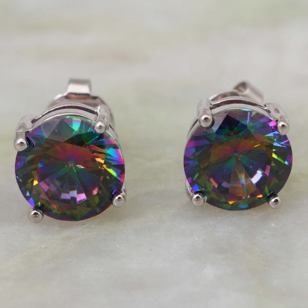 Crystal Peacock Studs