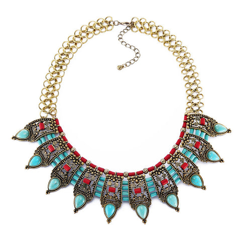 Indian Bow Tie Statement Necklace