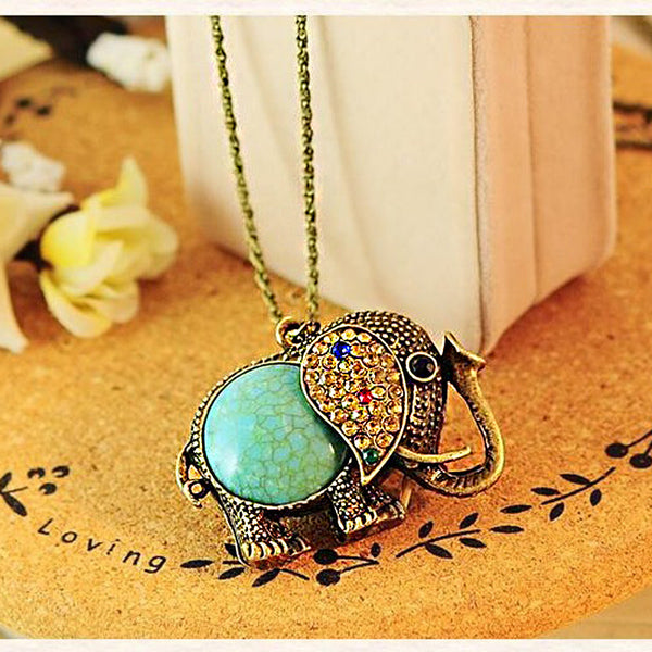 Boho Elephant Necklace